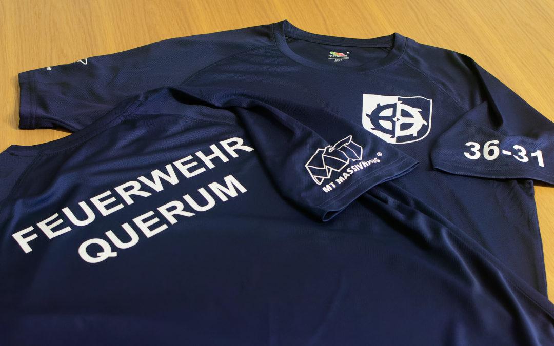 Sport-Shirts für die Ortsfeuerwehr Querum