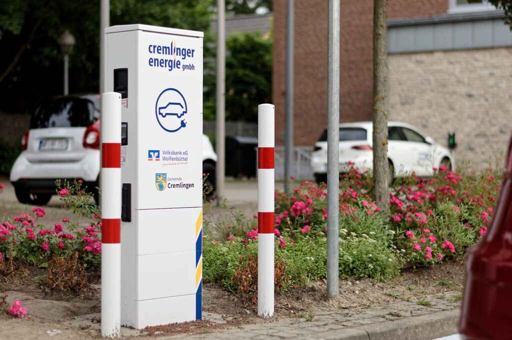 Ladesäule der Cremlinger Energie GmbH