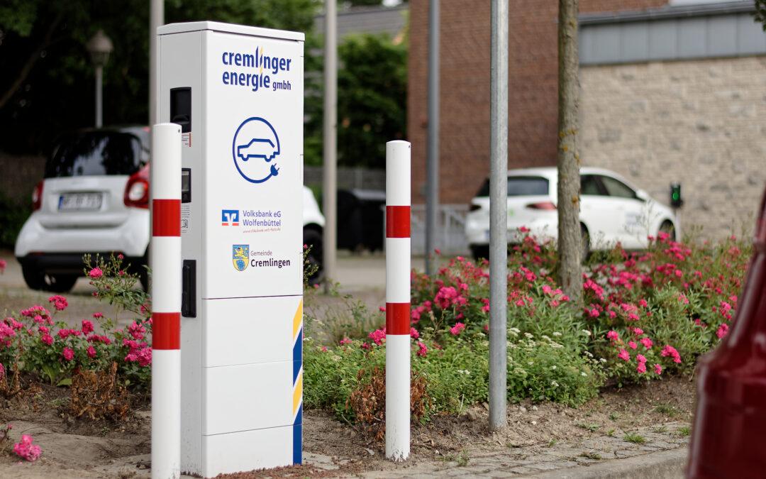Ladesäulen für die Cremlinger Energie GmbH